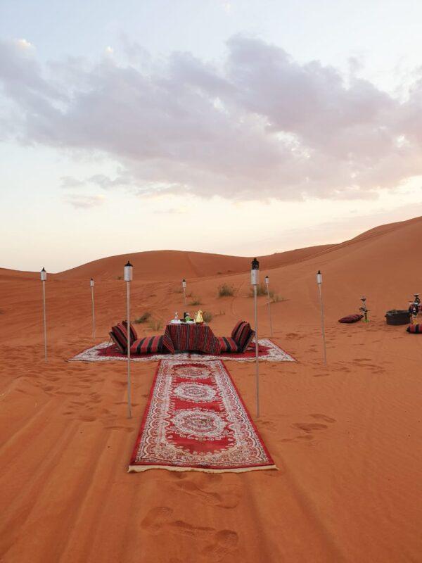 outdoor VIP Majlis desert safari dedicated setup
