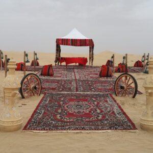 VIP Majlis royal desert safari setup for private safari
