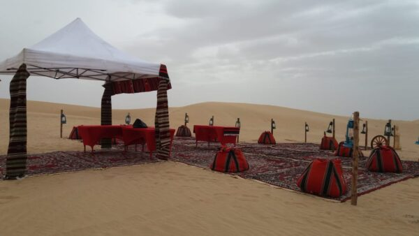 customised VIP majlis desert safari