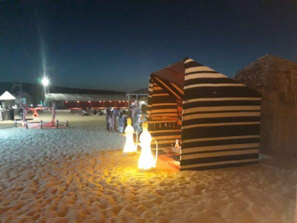 campsite small Majlis tent - Desert Safari Dubai