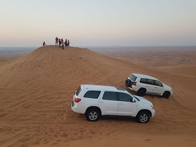 desert safari dubai on red dunes lahbab - Desert Safari Dubai