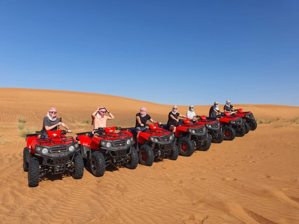 ATV quad bike rides in desert safari 2021