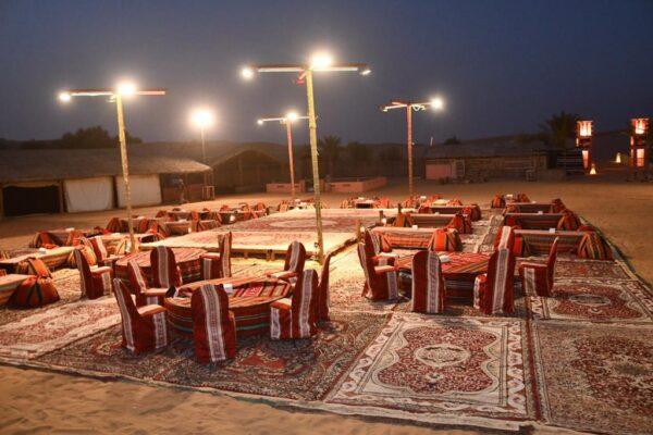VIP Desert safari Dubai lounge at the campsite